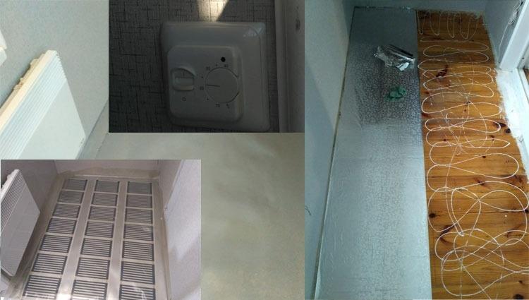 Электрический пленочный теплый пол на балконе и лоджии