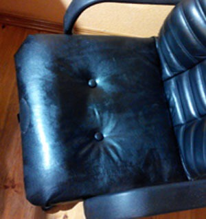 Ремонт и перетяжка сидения офисного кресла