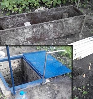 Делаем яму для скважины